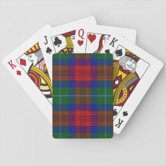 Clan Akins tartan playing cards (modern colors)