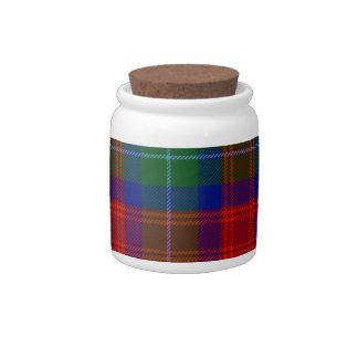 Clan Akins tartan porcelain storage jar