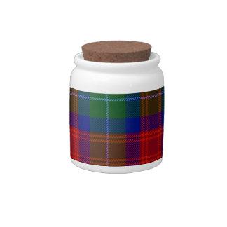 Clan Akins tartan porcelain storage jar Candy Dishes