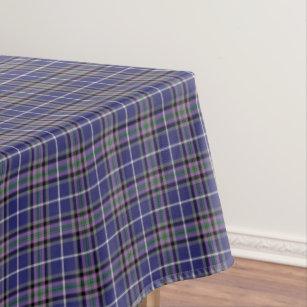 Clan Alexander Tartan Blue And Purple Plaid Tablecloth