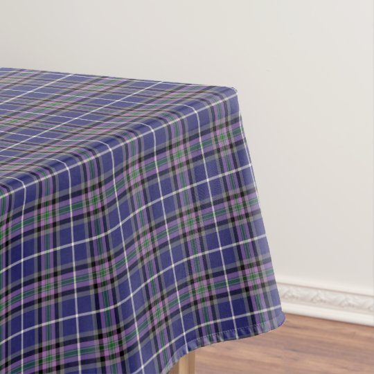 Nice Clan Alexander Tartan Blue And Purple Plaid Tablecloth