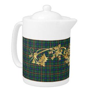 Clan Allison Tartan Pattern & Scottish Thistle Teapot