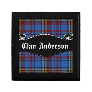 Clan Anderson Banner Jewelry Box
