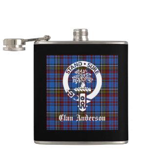 Clan Anderson Crest Tartan Flask