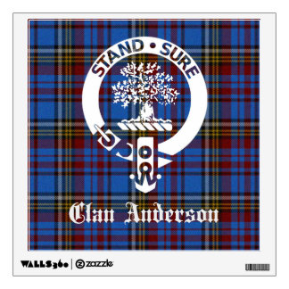 Clan Anderson Crest Tartan Wall Decal