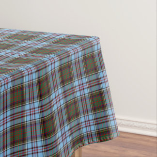 Clan Anderson Light Blue Scottish Tartan Tablecloth