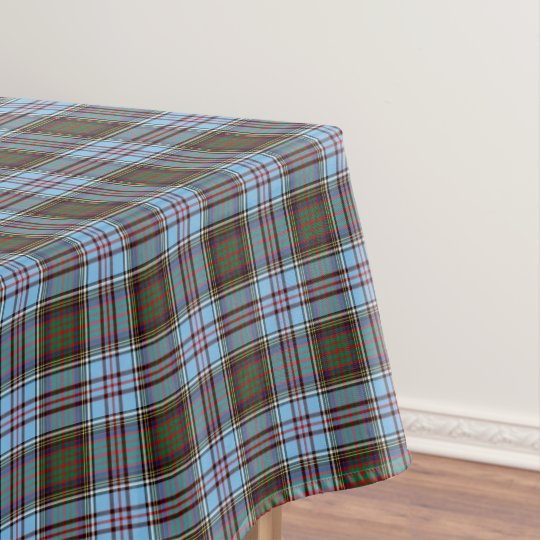 Charming Clan Anderson Light Blue Scottish Tartan Tablecloth