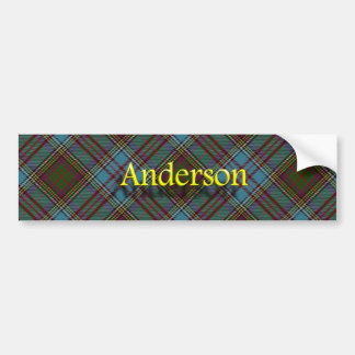 Clan Anderson Scottish Tartan Car Bumper Sticker