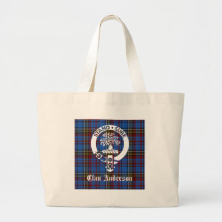Clan Anderson Tartan Crest Large Tote Bag