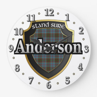 Clan Anderson Tartan Scottish Dream Clock