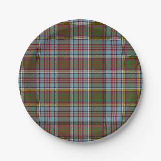 Clan Anderson Tartan 7 Inch Paper Plate