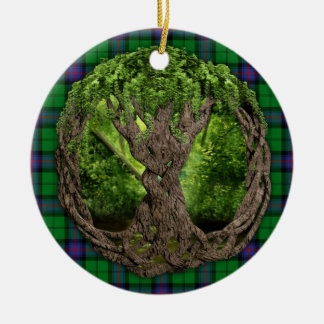 Clan Armstrong Tartan And Celtic Tree Of Life Ceramic Ornament
