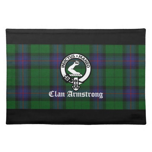 Clan Armstrong Tartan And Crest Badge Placemat Zazzle