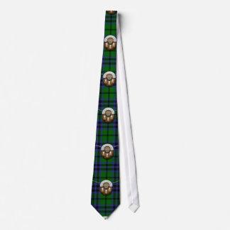 Clan Austin Tartan And Sporran Neck Tie