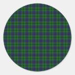 Clan Austin Tartan Round Sticker