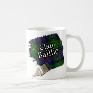 Clan Baillie Tartan Paint Brush Cup Mug