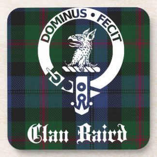 Clan Baird Crest Tartan Coaster