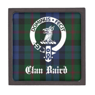 Clan Baird Crest Tartan Keepsake Box