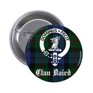 Clan Baird Crest Tartan Pinback Button