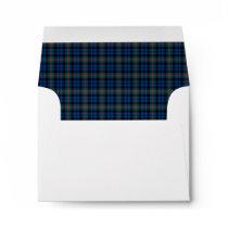 Clan Baird Tartan Blue and Green Plaid Envelope