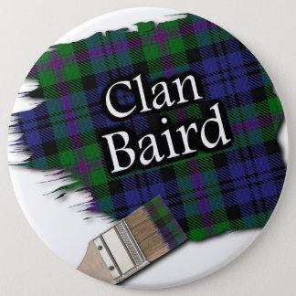 Clan Baird Tartan Paint Brush Button