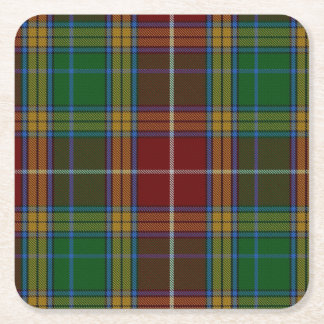 Clan Baxter Plaid Paper Coasters Square Paper Coaster