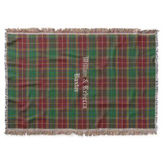 Clan Baxter Tartan Plaid Custom Throw Blanket