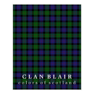 Clan Blair Colors of Scotland Tartan Poster