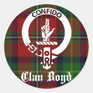 Clan Boyd Crest Tartan Classic Round Sticker