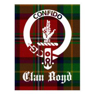 Clan Boyd Crest Tartan Postcard