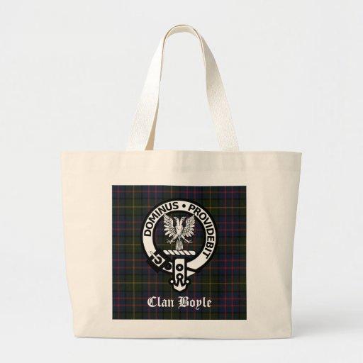 Clan Boyle Crest & Tartan Canvas Bag