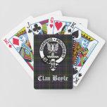 Clan Boyle Crest & Tartan Bicycle Playing Cards