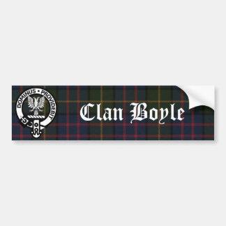 Clan Boyle Crest & Tartan Car Bumper Sticker