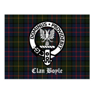 Clan Boyle Crest & Tartan Post Cards