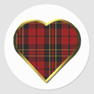 Clan Brodie Heart Envelope Seal Stickers