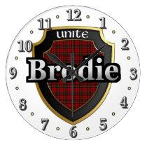 Clan Brodie Tartan Scottish Dream Clock