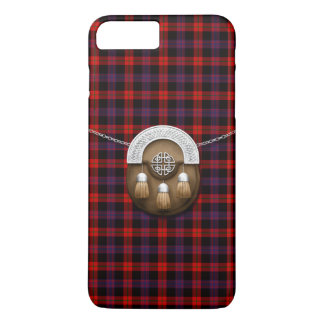 Clan Brown Tartan And Sporran iPhone 7 Plus Case