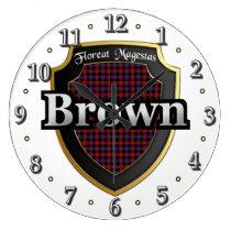 Clan Brown Tartan Scottish Dream Clock