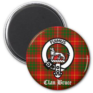 Clan Bruce Crest Tartan 2 Inch Round Magnet