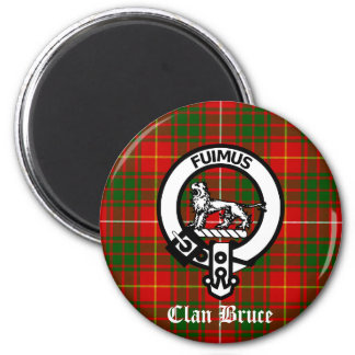Clan Bruce Crest Tartan Refrigerator Magnets