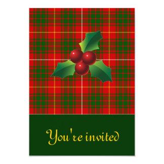 Clan Bruce Holiday Tartan Invites