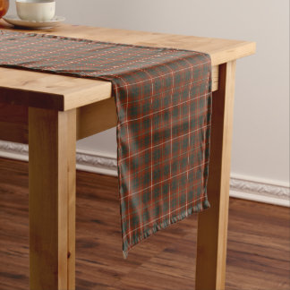 Clan Bruce Red and Brown Reproduction Tartan Short Table Runner