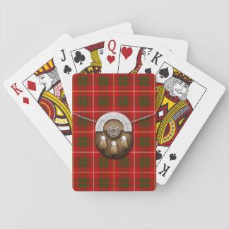 Clan Bruce Tartan And Sporran Playing Cards