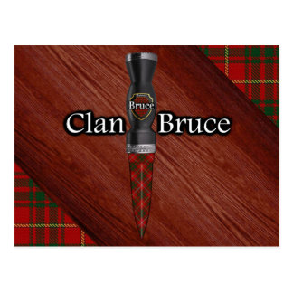Clan Bruce Tartan Sgian Dubh Blade Postcard
