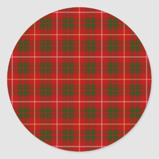 Clan Bruce Tartan Classic Round Sticker