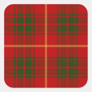 Clan Bruce Tartan Square Sticker