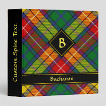Clan Buchanan Tartan 3 Ring Binder