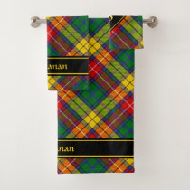 Clan Buchanan Tartan Bath Towel Set