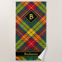 Clan Buchanan Tartan Beach Towel
