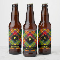 Clan Buchanan Tartan Beer Bottle Label
